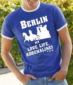 COOLES BERLIN MY LOVE LIFE ADRENALINE SPORT FREIZEIT FUSSBALL STADION T-SHIRT!