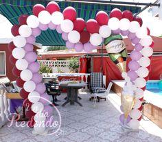 Decoración de 25 Aniversario con globos. * Decoració de 25 Aniversari amb globus.