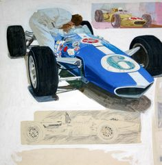 Really cool work from Andy Virgil. Check out a flicker gallery of his work here . Olivia De Berardinis, Automobile, Dan Gurney, Robert Mcginnis, Poster Ads, Movie Posters, Automotive Art, First Car, Pulp Art