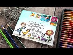 Colorful Envelope with Colored Pencils - Monthly Mail Art - August 2017 - Simon Says Stamp - YouTube