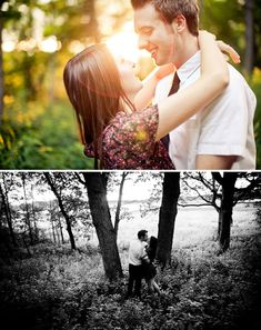 I want to have cute engagement photos taken like these!