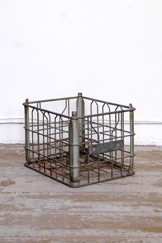 Vintage Industrial Milk Crate $48