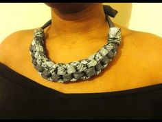Straight Knot Necklace HowTo DIY - Fabric Necklace - YouTube