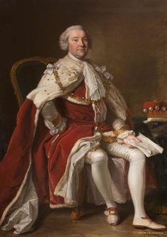 """William Dalrymple-Crichton, 5th Earl of Dumfries"", Thomas Hudson, ca. 1755; Great Steward of Scotland's Dumfries House Trust DH.4.2007"