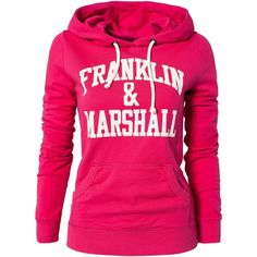 Franklin & Marshall Fleece Woman ($130) ❤ liked on Polyvore featuring tops, hoodies, jackets, shirts, sweaters, pink, jumpers & cardigans, womens-fashion, sweatshirts hoodies and pink hooded sweatshirt