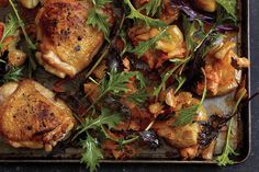 Roast Chicken with Kimchi Smashed Potatoes recipe