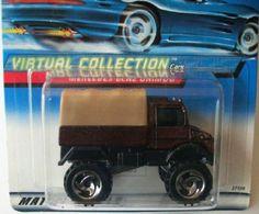 #2000-133 Mercedes-Benz Unimog Tan roof/Burgandy Virtual Collection Collectible Collector Car Mattel Hot Wheels