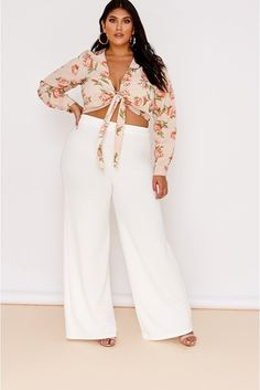 31551a914d4c6 Order the Curve Latecia Nude Floral Wrap Top from In The Style.
