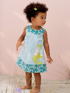 #Robe à plis bleue Atelier LZC bébé #fille - Collection Printemps été 2014 www.vertbaudet.fr