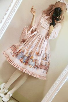Honey Honey -Annie's Breakfast- Sweet Lolita JSK (Normal Waist Version)