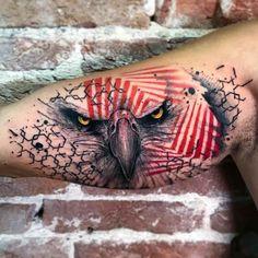 eagle tattoo on inner bicep - Tattoo MAG Phönix Tattoo, Forarm Tattoos, Cool Forearm Tattoos, Eagle Tattoos, Badass Tattoos, Body Art Tattoos, Hand Tattoos, Tattoos For Guys, Cool Tattoos