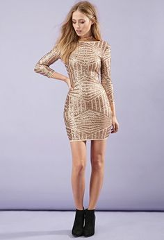 Sequined Abstract-Patterned Dress | Forever 21 - 2000162787