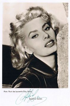 Blonde Sophia Loren.