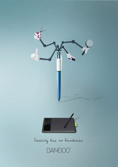 Creativity has no boundaries in this new print campaign for Wacom Bamboo. 不再被框架住的創意揮灑