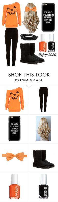 """""""Halloween Day"""" by lfrye2080 ❤ liked on Polyvore featuring River Island, Casetify, Forzieri, UGG, Essie and BillyTheTree"""