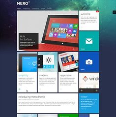 A 'Windows 8' feel about this template that I like. JA Mero - Responsive template for Joomla 3.0 & 2.5
