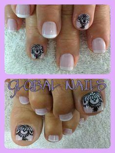 Pedicure, Nails, Beauty, Design, Fairy, Work Nails, Nail Designs, Beleza, Pedicures