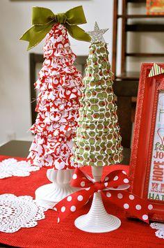 foam christmas tree tutorial {ribbon covered} | Little Birdie Secrets