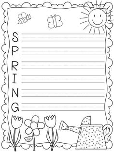 a85327218554 5 Best Images of Spring Writing Paper Printable - Free Printable Border  Lined Writing Paper