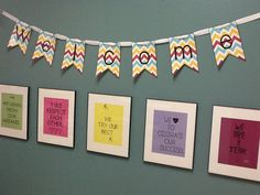 Wall decoration for school with positive quotes. FREE