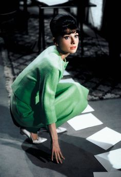 The Fashion of Audrey — The actress Audrey Hepburn (as Gabrielle Simpson)...