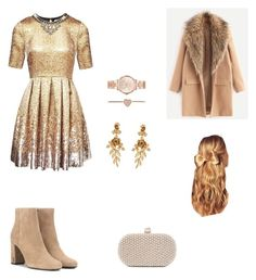 """New Years party"" by kcjara on Polyvore featuring Matthew Williamson, Santi, Oscar de la Renta, Michael Kors, Hershesons and Yves Saint Laurent"