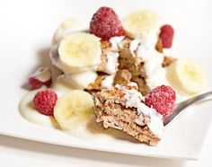 In Vegan Veritas: Pancakes banane et flocons d'avoine (sans sucre, sans gluten, vegan)