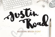 Dealjumbo.com — Discounted design bundles with extended license! | Justin Road – Free Brush Font