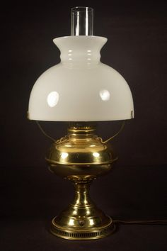 Hurricane lamp oil amber glass converted light fixture shops brass oil lamp converted light fixture milk glass shade looks like one i have mozeypictures Image collections