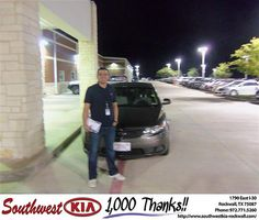 Happy Anniversary to Dennis Pitalua on your 2013 Kia Forte from Randall Lawrence Jr and everyone at Southwest KIA Rockwall!