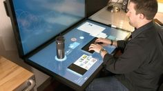 Dynamic Desktop - Multi-touch hardware and software company Ideum is developing the Dynamic Desk, a projected capacitive touch table that can be used with both hand ...