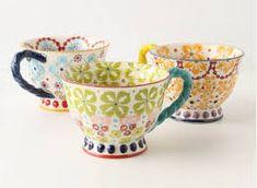 Aiheeseen liittyvä kuva Hand Painted Mugs, Tableware, Painting, Home Decor, Dinnerware, Dishes, Painting Art, Interior Design, Paintings