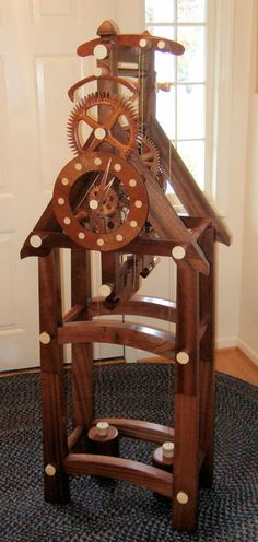 Timber Frame all-wood Clock - by Charles Maxwell @ LumberJocks.com ~ woodworking community