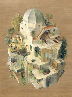 The Inverted Architecture and Gravity-Defying Worlds of Cinta Vidal  http://www.thisiscolossal.com/2015/04/inverted-architecture-cinta-vidal/