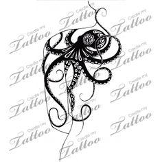 Sexy custom kraken/octopus tattoo! | Octopus Shoulderpiece w/ Contrast #104271 | CreateMyTattoo.com