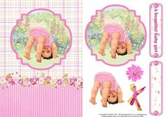 New Baby Girl Card Topper Decoupage on Craftsuprint - View Now!