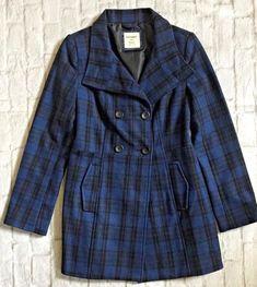 Old Navy Maternity Ruffled Wool Blend Coat Jacket Black NEW XS M Long
