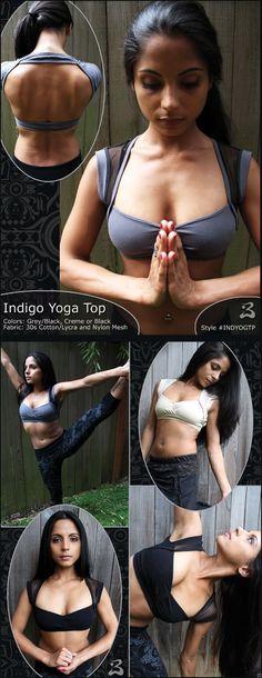 Belly dance class wear -- Indigo Yoga Top - *NEW! Pole Dance, Yoga Wear, Dance Wear, Mode Inspiration, Fitness Inspiration, Dance Oriental, Estilo Tribal, Belly Dance Costumes, Tribal Fashion