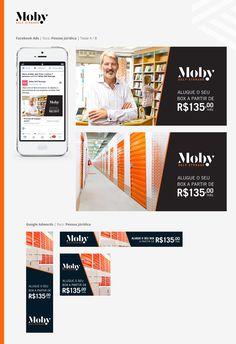 Moby Selfstorage - desenvolvimento de conceito gráfico para ações de Marketing Digital.