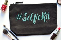 Selfie Kit Makeup Bag Best Friend Gift Large by SaltyMartini