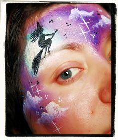 heks op een bezemsteel Halloween Face Paint Designs, Face Painting Halloween Kids, Adult Face Painting, Facepaint Halloween, Ghost Face Paint, Witch Face Paint, Face Paint Makeup, Face Painting Tutorials, Face Painting Designs