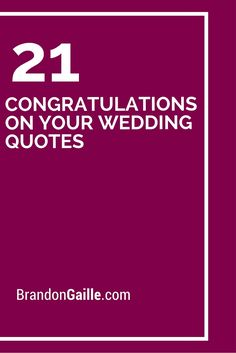 Wedding Quotes : QUOTATION - Image : As the quote says - Description 21 Congratulations On Your Wedding Quotes Wedding Congratulations Quotes, Wedding Wishes Quotes, Wedding Card Messages, Congratulations On Your Wedding Day, Wishes Messages, Wedding Sayings For Cards, Sympathy Messages, Wedding Verses, Greeting Card Sentiments