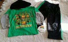 Boys size 2t 2pc Teenage Mutant Ninja Turtles set brand new with tags