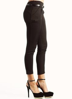 tapered belted pants
