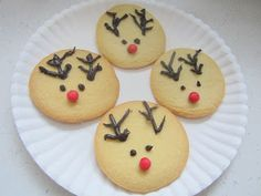 Made sugar cookies and decorated them to look like reindeer.