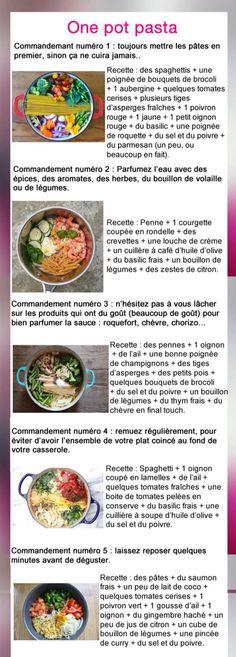 One pot pasta !! Recettes