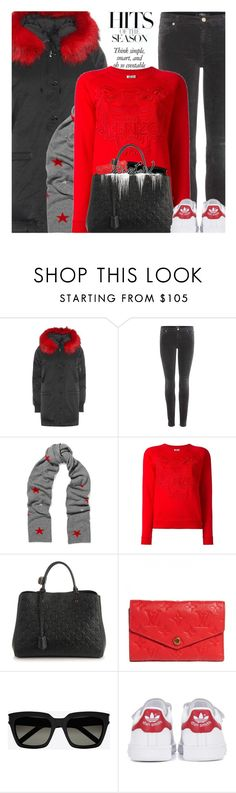 """""""Sweater Layers"""" by hollowpoint-smile ❤ liked on Polyvore featuring Kenzo, 7 For All Mankind, Chinti and Parker, Yves Saint Laurent and adidas Originals"""
