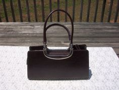 Women's Vintage Leather Clutch Handbag Purse in by touchofclass123