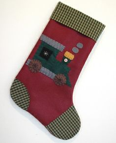 Train Christmas Stocking...I know a little boy that would love this!