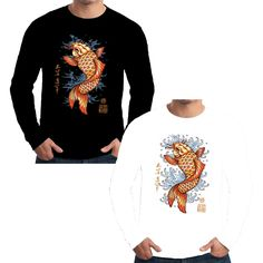 Velocitee Mens Long Sleeve T Shirt Fierce Wolf Colourful Horror Scary A19948